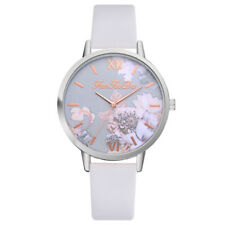 Fashion Women's Watch Silicone Printed Flower Causal Quartz Analog Watch Girls