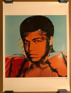 ANDY WARHOL MUHAMMAD ALI BOXING SPORTS POP ART LITHO PRINT 2000 WITH CERTIFICATE