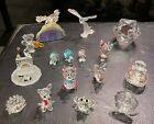 Austrian Crystal Figurines-Lot of 16-Swarovski, Crystal World,Iris Arc,Silver De