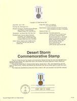 #9132 29c Desert Storm Stamp #2551 USPS Souvenir Page