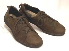BORN Size 9 (40.5)  Brown Nubuck Leather Lightweight Comfy Dressy Casual Oxfords