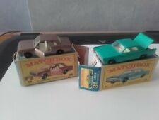 LESNEY MATCHBOX  FORD CORTINA n25-LINCON CONTINENTAL n31 + box