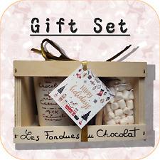 """""""Joyeuses fêtes"""" fondue au chocolat + mini Guimauve cadeau de Noël Set XC3"""