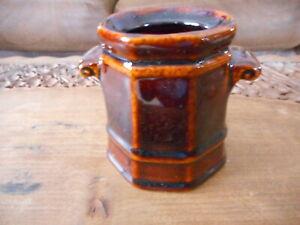 Pfaltzgraff Antique Brown Sugar Jar No Lid 133 Storage Rare Handled