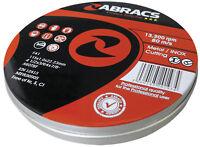 "10 x  Abracs 115 x 1mm metal cutting discs, inox slitting disc, in Tins, 4.5"""