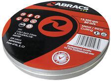 10 x  Abracs 115 x 1mm metal cutting discs, inox slitting disc, in Tins