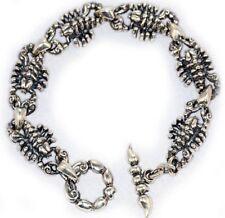 Sterling Silver Scorpion Charm Bracelet