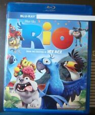 """Rio  """"  Blu-Ray Movie Disc, Case it came in and Artwork"""