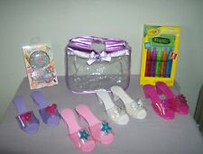 Lot Of (4)  Dress Up Shoes In A Purse& + Body Wash Pens + Press On Nails