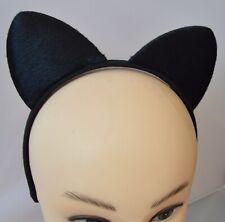 Nuevo Negro Peludo orejas de gato Aliceband Fiesta Vestido Elaborado Gallina Do