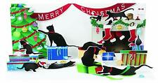 NIP Up With Paper Pop-Up Panoramic Holiday Christmas Card - Holiday Cats