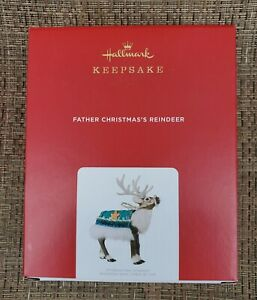 HALLMARK FATHER CHRISTMAS'S REINDEER 2021 ORNAMENT LIMITED EDITION--NEW IN BOX!