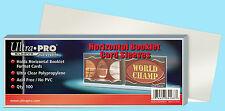 100 ULTRA PRO HORIZONTAL BOOKLET CARD SLEEVES NEW Soft Plastic Trading Baseball