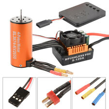 120A ESC 2650KV Brushless Motor for 1/8 Car Combo with Program Card RC832