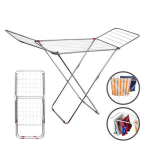 Winged Clothes Airer Laundry Clothing Dryer Rack Folding Washing Line Indoor 18M