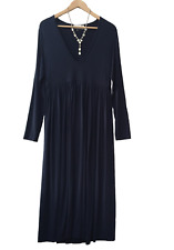 ZIMMERMANN Luxe Navy Long Sleeve Shift Maxi Dress Size 1/10, 12, RRP $500