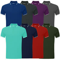 Mens Polo Shirts Top Short Sleeve Pique Designer New Plain Cotton Golf Tee Shirt
