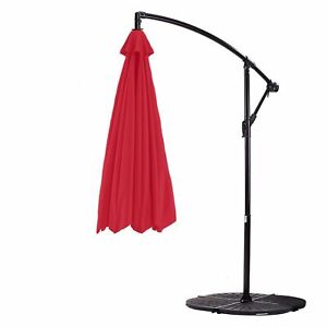 11ft Cantilever Hanging Umbrella 8 Rib Replacement Canopy