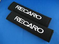 2pcs RECARO Embroidered Seat Belt Shoulder Cover Pads for CAR SEATBELT
