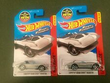2015 Hot Wheels CORVETTE GRAND SPORT ROADSTER Fast & Furious Lot of 2 TWO #179