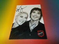 Roxette Marie + Per  signiert signed autograph on postcard Autogramm in person