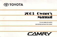 2003 Toyota Camry Owners Manual User Guide Reference Operator Book Fuses Fluids
