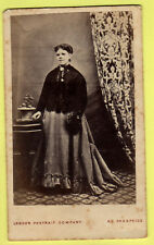Victorian CDV - Lady  wearing Crinoline Dress - The London Portrait Coy.  London