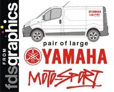 Pair of LARGE (700mm) Yamaha Motosport van stickers/decals