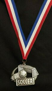 Soccer Medal with Ribbon (Set of 11)