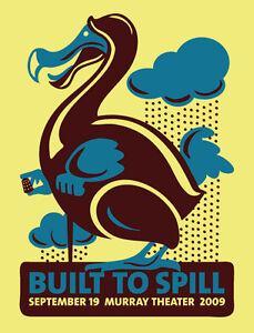Built To Spill Gig Poster, Salt Lake City 2009 (Silkscreen) 19 x 25' Print
