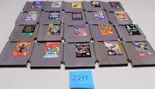 Lot of 20 Original Nintendo Nes Games SCAT, Lolo 2, Duck Tales 2, Mega Man 1
