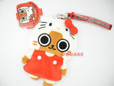 Monster Hunter Airou x Sanrio Hello Kitty Plush Mini Bag Pouch w/ Neck Strap, A