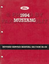 1994 Ford Mustang ABS Shop Manual Anti-Lock Brake System Repair Service Diagnose
