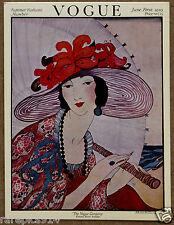 Vogue Summer Fashions Number Vintage Magazine Card Litho Print
