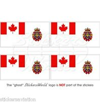"""CANADA Canadian Armed Forces Ensign CF Flag 50mm (2"""") Vinyl Stickers, Decals x4"""
