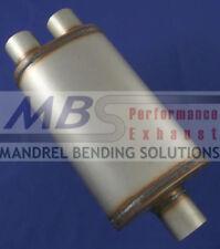 "muffler FULL BOAR Max Flow SS 3"" IN/ Dual 2.25"" OUT MF2278"