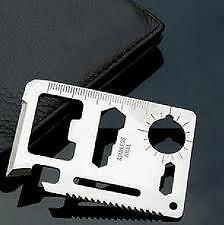MULTI CAMPING TOOL CREDIT CARD SURVIVAL KNIFE 11 IN 1#CHAINSAW#POCKET KNIFE###