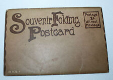 Vtg Postcards Souvenir Folder Folding Set D&R G Train Railroad Travel Uncirculat