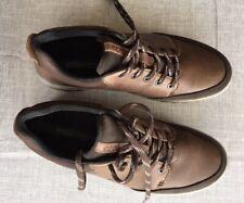 ECCO Gore-Tex Mens Brown Leather Casual Walking Shoes Waterproof Size 8 UK 42 EU