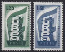 ITL141) Italy set of 2, 1956 Europa Stamps, MUH