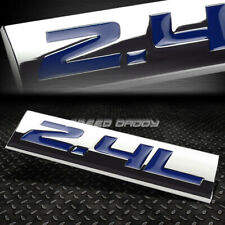 METAL GRILL TRUNK EMBLEM DECAL LOGO TRIM BADGE POLISHED CHROME BLUE 2.4L 2.4 L