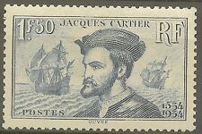 "FRANCE STAMP TIMBRE 297 "" JACQUES CARTIER, BATEAU, CANADA 1F50"" NEUF xx TTB B481"