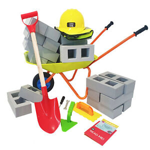 EVA Building Foam Block & Wheelbarrow Set Kids DIY Toy Creative Construction