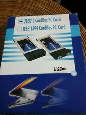 2 PORTA CardBus Laptop PC CARD USB 2.0 Adattatore con cavo e CD