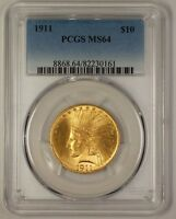 1911 US Indian $10 Gold Eagle Coin PCGS MS-64 (Gem) (JS)