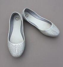 Melissa Mel Ballerina Shoe Pump 6 39  Silver Glitter Flat Sandal Party Holiday