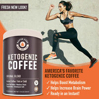 Rapid Fire KETOGENIC COFFEE Hot or Cold Original MCT Keto Instant Blend BURN FAT