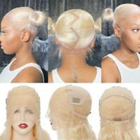 Luxury Blonde Remy Human Hair Full Lace Wigs 100% Real Indian Transparent Lace P