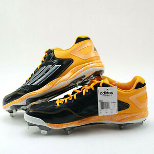 Adidas Performance PowerAlley 2 Mid Baseball Cleats Metal Spikes Men Size 16 New
