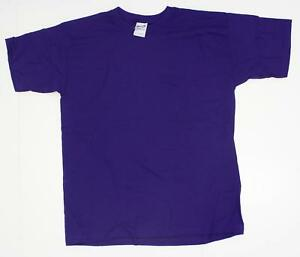 new Gildan Youth Boys Girls Ultra Cotton Short-Sleeve T Shirt Purple XL